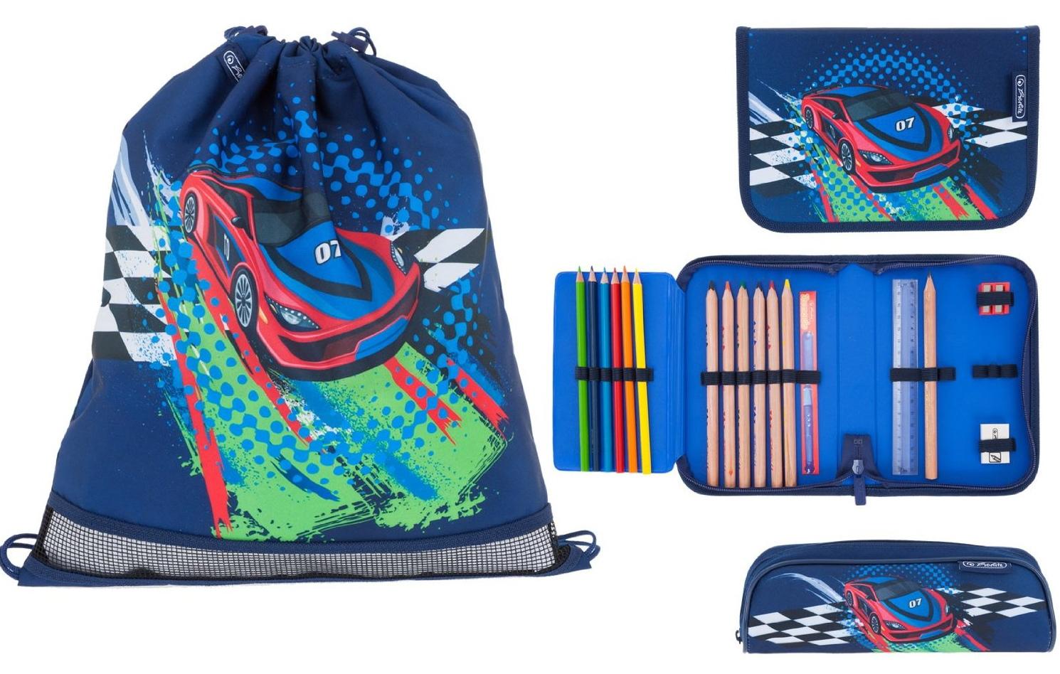 Школьный ранец Herlitz Sporti Plus Spaceshuttle с наполнением 4 предмета, - фото 10
