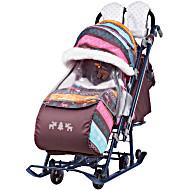 Санки коляска Ника Детям 7 3 в джинсовом стиле Скандинавский розовый