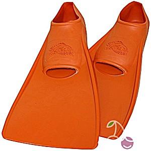 Ласты детские эластичные маленький размер 22 оранжевые закрытая пятка ProperCarry (ПРОПЕРКЭРРИ)